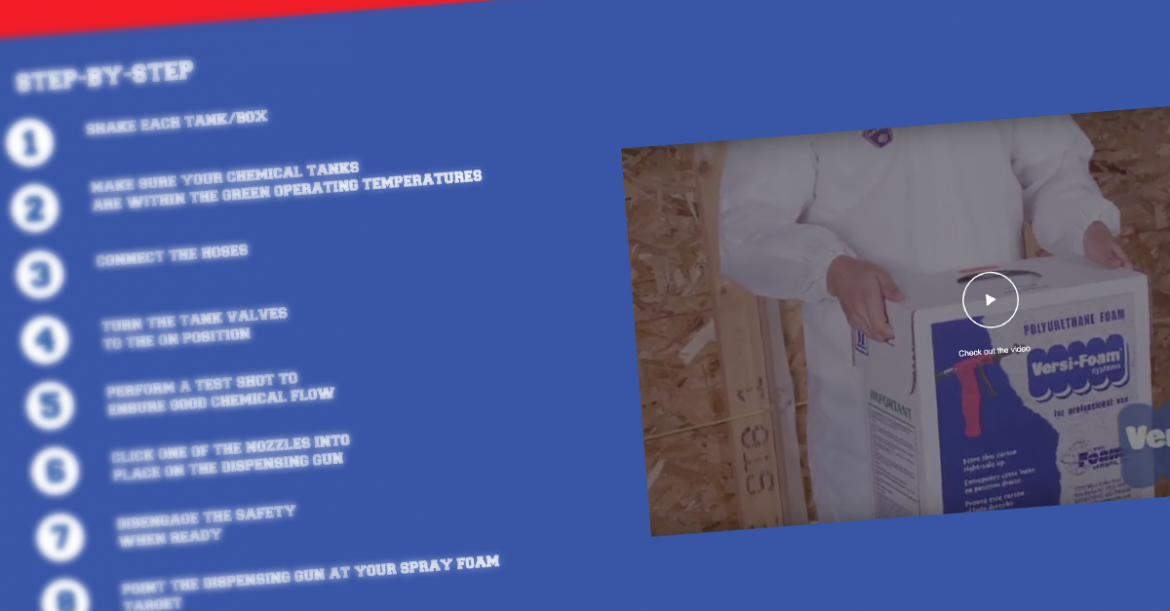 Explore our spray foam video library