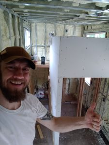 Spray foam insulation in a tiny house
